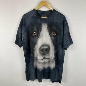 The Mountain T-Shirt XL Dog Pattern Multicoloured Short Sleeve Round Neck
