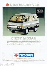 PUBLICITE ADVERTISING 115  1989  la Vanette Coach  d Nissan