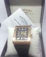 Rotary Para hombres Reloj Automático De Gran Tamaño Ediciones logotipo Giratorio 802C