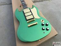 Custom SG400 Metallic Green Standard Supreme LP Electric Guitar FREE SHIPPING