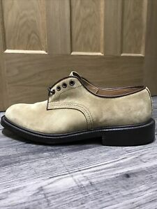 Trickers Men's Shoes Gaucho Repello Suede Size 7.5 Fitting 5