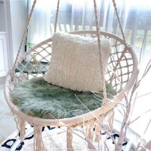 UK Hanging hammock Rope Swing Chair Macrame Hammock Seat Outdoor Indoor Garden