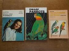 Collection 3 Parrot Books Dwarf Parrots Cockatiels Macaws Ailments Care Feeding