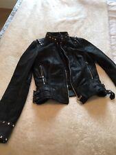 karen millen leather jacket size 10