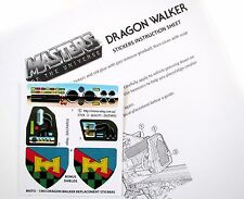 MOTU Masters of The Universe Replacement Stickers for 1983 Dragon Walker Bonus