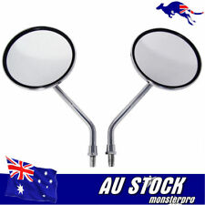 Chrome Handlebar Round Rear View Side Mirrors 4 Postie Bike Scooter Motorcycle