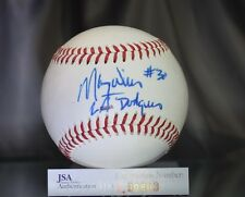 MAURY WILLS JSA SIGNED CALIFORNIA LEAGUE BASEBALL AUTHENTIC AUTOGRAPH