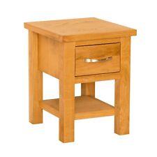 Oak Lamp Side End Table w Drawer Storage Newlyn Solid Wood Living Room Furniture