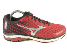 Mizuno Wave Rider 18 Black Red Athletic Running Sneakers Shoes Mens Size 9