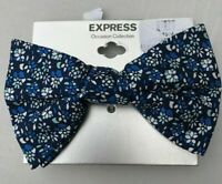 NWT Express Men/'s Blue /& Lavender Liberty of London Floral Slim Tie O//S