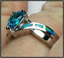 Opal Silver Plated Fashion Rings