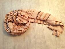 ZARA Women's Checked Scarf(Beige, Size:M)