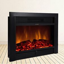"""28.5""""*21"""" Embedded Fireplace Electric Insert Heater Glass View Log Flame"""
