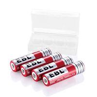 4PCS 3000mAh 18650 Rechargeable Battery EBL 3.7V Li-ion Batteries For Flashlight