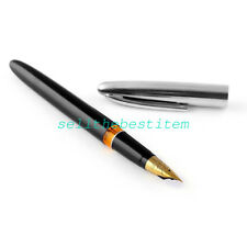 1pc RARE Vintage HERO Wing Sung 233 Fountain Pens Steel cap -NEW- black