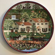 GINGERNUT VALLEY INN Porcelain Plate #2 WYSOCKI COLLECTION Bradford Exchange