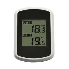 Digitale kabellose LCD-Thermometer-Wetterstation mit Sensor für drinnen draußen