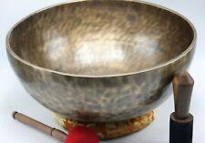 "18"" Large Tiger Antique singing bowl- handmade in Nepal, meditation, sound bath"