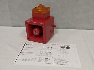 E2S AL105N High Output Sounder Xenon Beacon Amber Lens - Fire Alert Alarm