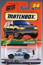 Matchbox MB 54 Isuzu Amigo White Mint On Card 1999