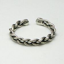 Design Oxidised Ladies New inc Gift Bag Solid 925 Sterling Silver Toe Ring Chain