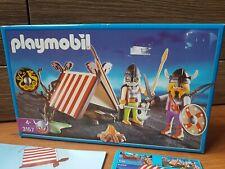 Playmobil Ref 3157 Campamento Vikingo con Soldados CAJA VACIA Coleccion Vikingos