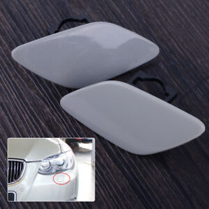 1 Pair Headlight Lamp Washer Jet Nozzle Cover Cap Fit for BMW 3 Series 328i 335i