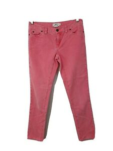 Vineyard Vines Women's Size 2 Pink Corduroy Pants; Zipper/Button Fly/Pockets EUC