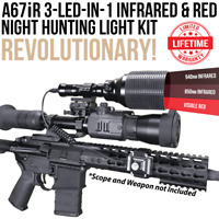 Wicked Lights A67iR 3-LED-In-1 Infrared & Red Night Hunting Light Kit W2056