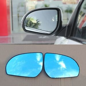 2pcs Car Power Heated w/Turn Signal Side View Mirror Blue Glasses For Kia K2