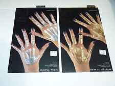 Gothic Club Skeleton Hand Bones Temporary Fake Tattoos Adult Costume Makeup lot