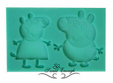 peppa pig Silicone Mould Mold  Fimo Sugarcraft Cupcake Topper chocolate