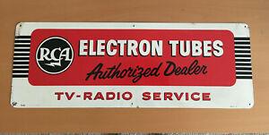 RCA Electron Tubes Authorized Dealer Advertising Sign - Original Vintage