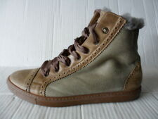 BRUNELLO CUCINELLI WOMEN'S BEIGE SUEDE/LEATHER ANKLE BOOTS FUR LINING