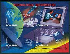 2004 Technology Information Communication,Satellite,email,fax,Romania,Bl.336,MNH
