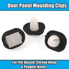 20x Clips For Fiat Ducato Lower Door Side Moulding Trim Clips White Plastic