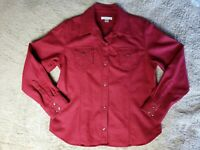Vintage Pendleton Women's Shirt 100% Wool Western Snap Up Red Size Large