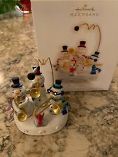 Hallmark Christmas Ornament, Snowman Band, Interactive Light and Sound, 2009
