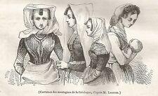 A5063 Catalogna - Costumi di montagna - Xilografia - Stampa del 1843