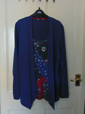 Ladies CardiTop - Size 16/18 - Blue Multi - Lovely Soft Feel
