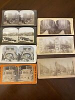 Antique Stereoview Cards England, Lot of 7