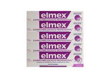 5x ELMEX Zahnschmelzschutz PROFESSIONAL Zahnpasta 75ml PZN 11072327 Zahncreme
