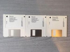 "Fax Printer Installation Software Macintosh Mac Install 3.5"" Floppy Discs Retro"