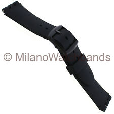 20mm Milano Soft Smooth Polyurethane Everlasting Comfort Fit Band Fits Swatch