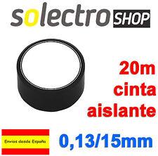 Cinta Aislante PVC Negra 20 metros x 15mm x 0,13mm ignifuga H0038