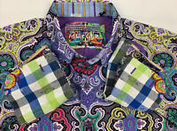 Robert Graham - Colorful Long Sleeve - Men's XL Button Down Classic Fit Rare