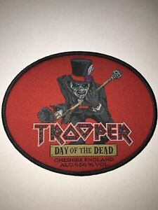 Iron Maiden Trooper Day of the Dead patch black