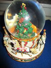 SAN FRANCISCO MUSIC BOX CHRISTMAS TREE CAROUSEL SNOW GLOBE MICHAEL ADAMS
