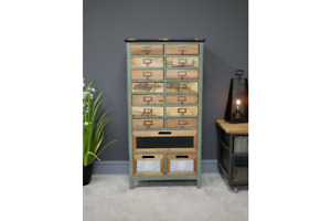 Vintage Industrial Tallboy Multi Drawers Retro style Storage Chest