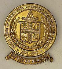 Jewel 50 Year Service GL New Zealand Silver Masonic